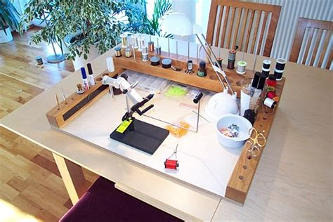 homemade fly tying bench an idea for a portable fly tying bench craft ideas