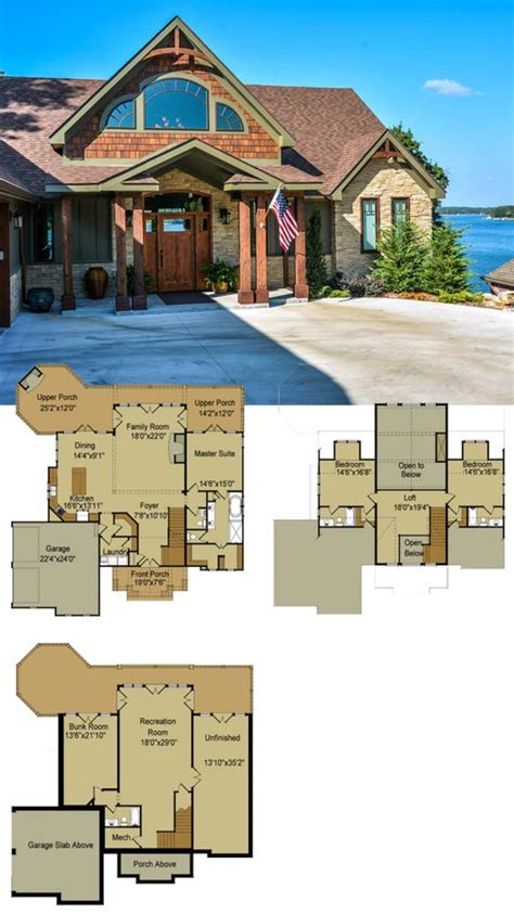 open floor house plans with walkout basement rustic mountain house floor plan with walkout basement