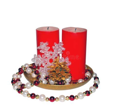 candele grandi due grandi candele rosse fotografia stock immagine di