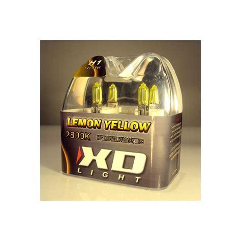 lada xenon h1 x d light h1 lemon yellow bulbs 2800k 55w pair in box