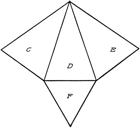 net pattern of triangular prism triangular pyramid net pictures to pin on pinterest