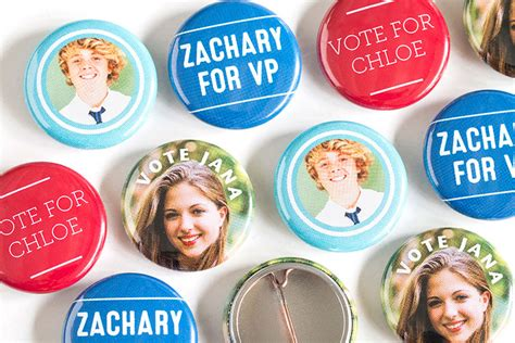 Student Council Giveaway Ideas - student election buttons easy cheap diy for student council