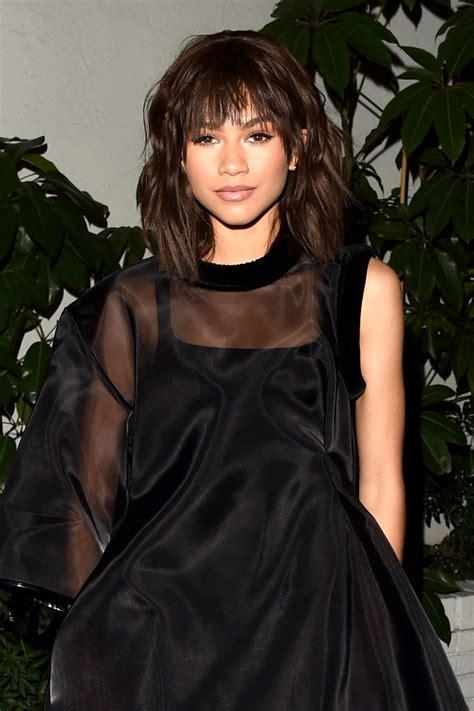 Zendaya Debuts a Shoulder Length Shag and Bangs   Vogue