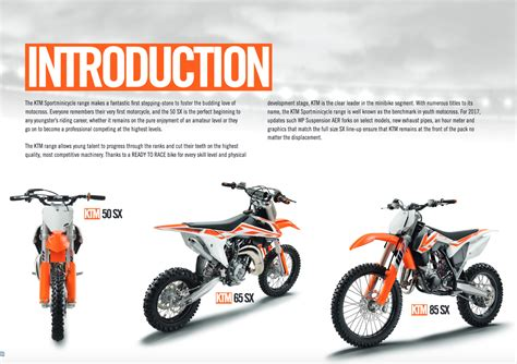 How Fast Does A Ktm 65 Go 2017 Ktm Mini Sx Model Line Overview Look 2017