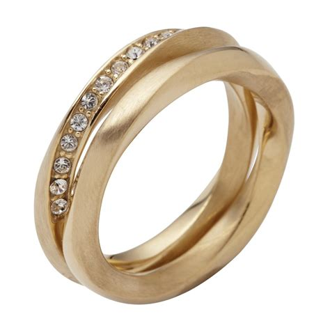 dkny jewellery sale dkny stainless steel pvd gold plated ring from bdazzled
