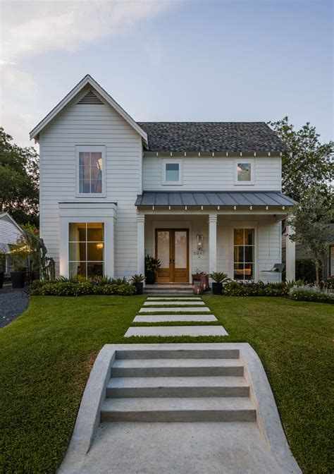contemporary farmhouse love the double front doors and tall windows maestri