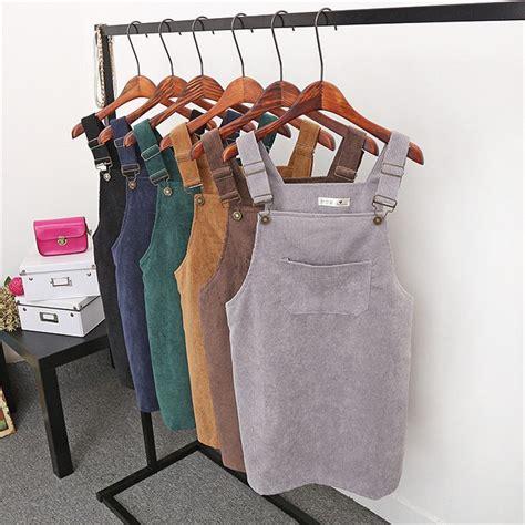 Tas Fashion Vintage Korea 7 colors 2017 summer korean fashion vintage college wind corduro high waist skirts midi