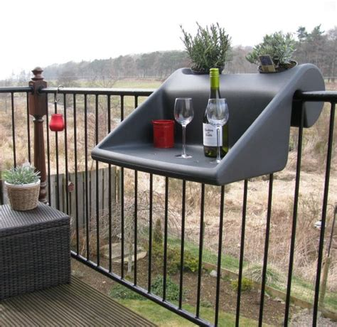 Balcony Railing Table by Make The Most Of Your Small Balcony Top 15 Accessories