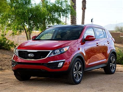 compact suv comparison  kia sportage kelley blue book