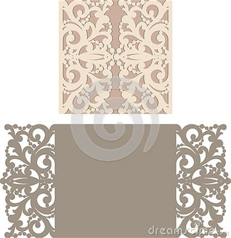 Laser Cut Envelope Template For Invitation Wedding Card Stock Vector Image 73943466 Laser Cut L Template