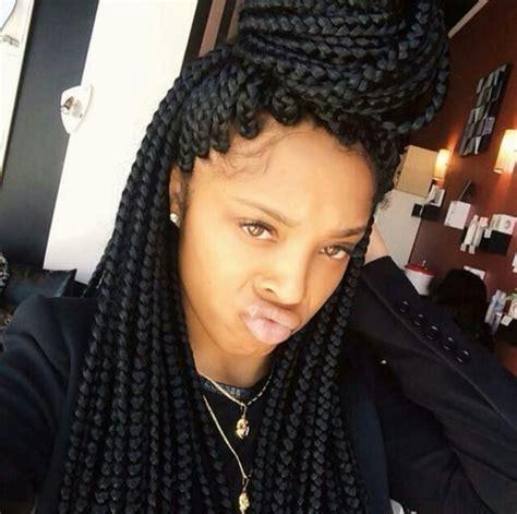 box braids with human hair black blazer outfit with box braids blazers pinterest