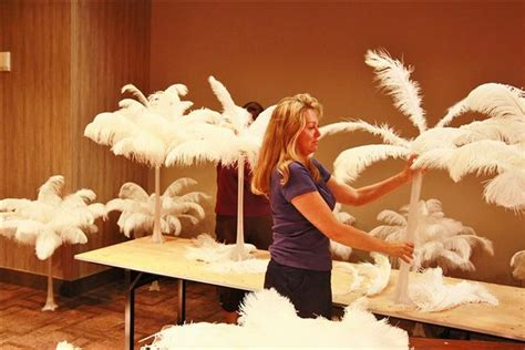 how to make a centerpiece how to make feather centerpieces