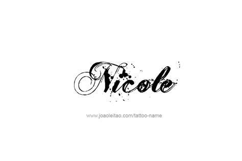 Tattoo Name Designs Nicole | nicole name tattoo designs