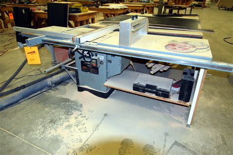 table saw sliding table attachment delta unisaw 10 tilting arbor saw includes a 34 555