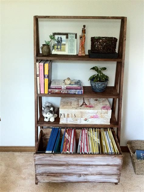 ana white ladder filing cabinet diy projects