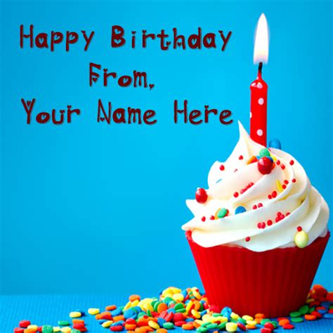 Happy Birthday Wishes With Name Edit Write My Name On Birthday Cakes Pictures Online