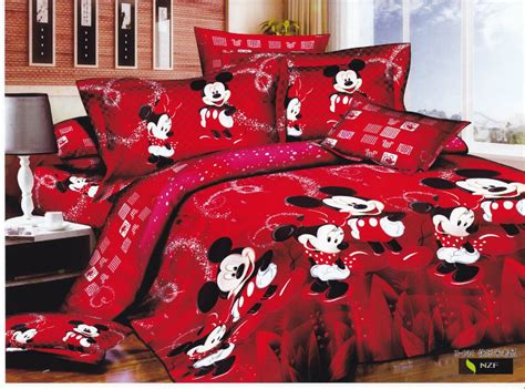 mickey mouse comforter set full shop popular red mickey mouse bedding from china aliexpress