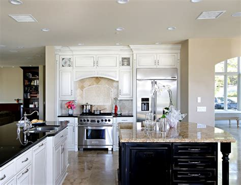 white kitchen dark island white cabinets with dark island in coto de caza