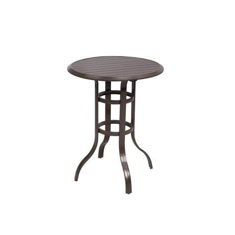 Home Depot Patio Table Hton Bay Vichy Springs High Patio Bistro Table Ftm80727 The Home Depot