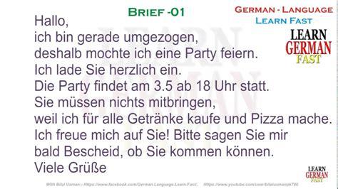 Reklamation Brief B1 german brief 01 a1 a2 b1 b2 c1 c2