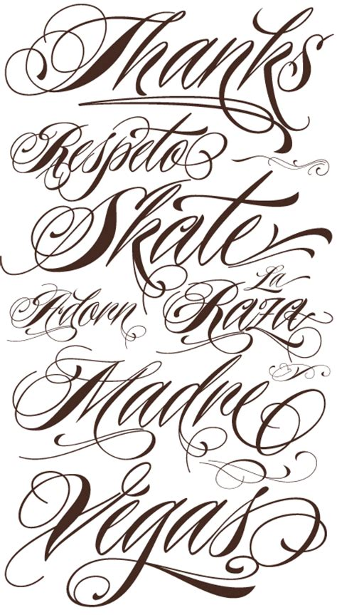 tattoo fonts characters art designs