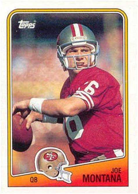 football cards value 1988 topps joe montana 38 football card value price guide