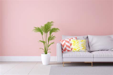 minimalist pastel color light pink  modern room