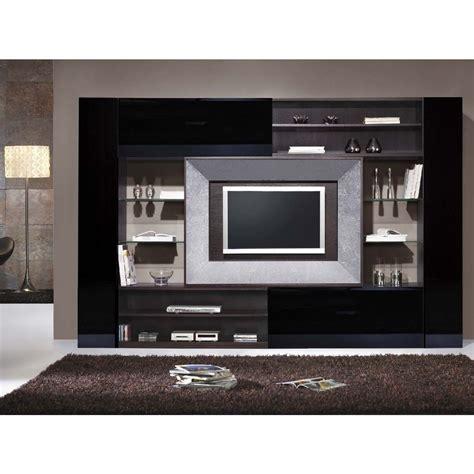 design tv frame black gloss wenge and silver leaf lcd tv frame unit