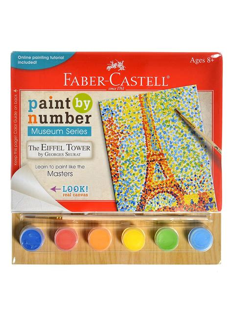 acrylic paint faber castell faber castell paint by number museum series