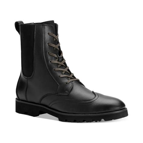 calvin klein boots mens calvin klein gale laceup boots in black for black