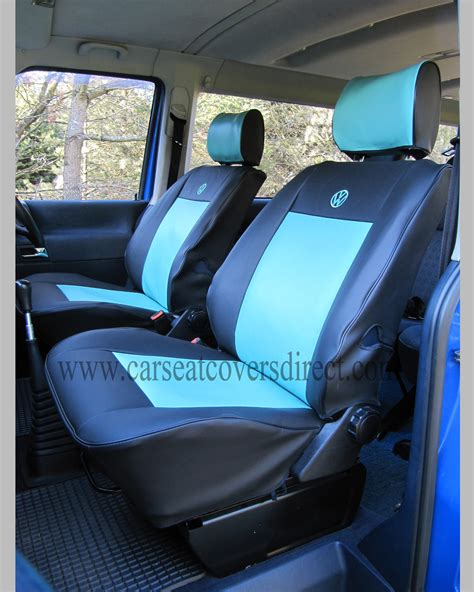 Vw T4 Seat Upholstery by Vw T4 Seat Covers Blue Black Car Seat Covers Direct
