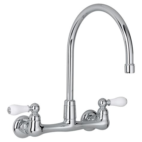 high arc kitchen faucet white sinks and faucets home american standard heritage 2 handle high arc wall mount