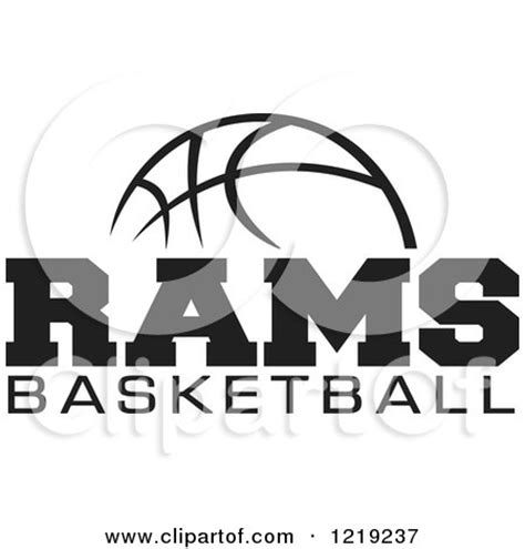 rams basketball clipart of a black and white with rams basketball
