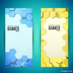 4 designer cellular shades template vector background banner