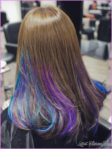 hair with purple streaks purple streaks hair color
