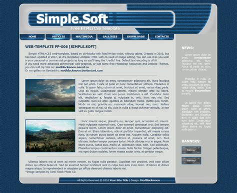 simple html menu template modblackmoon free grunge html css web template