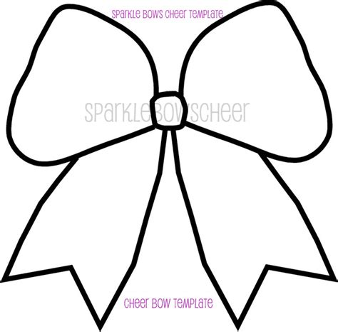 cheer bow templates cheer bow outline template sketch coloring page