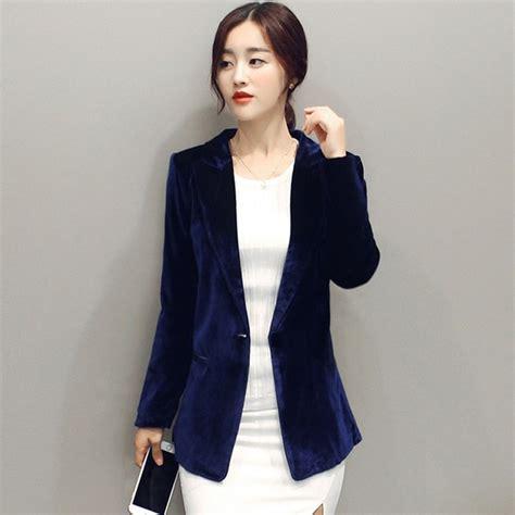 2017 velvet blazer jackets blazers blue