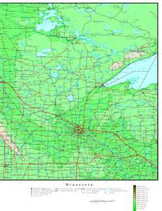 us map minnesota minnesota elevation map