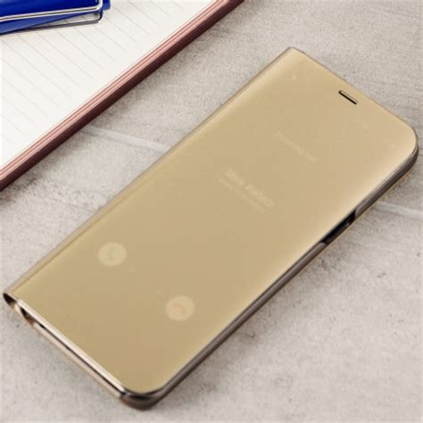 Clear View Stand Cover Casing Transparan View Samsung Galaxy S7 Edge official samsung galaxy s8 clear view stand cover gold