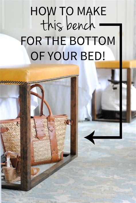 bed bench diy diy bedroom bench with leather upholstery the chronicles of home