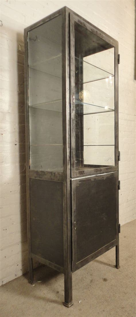 industrial style display cabinet tall industrial display cabinet at 1stdibs