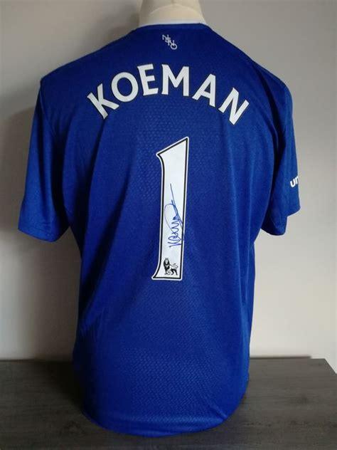 Kaos T Shirt Ronald Koeman signed everton fc home shirt 2015 2016 ronald koeman