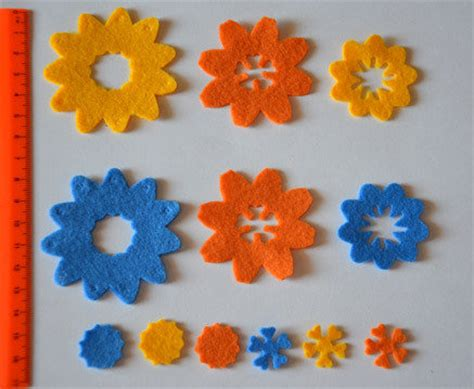 fiori in panno fiori in pannolenci materiali stoffa e filati di