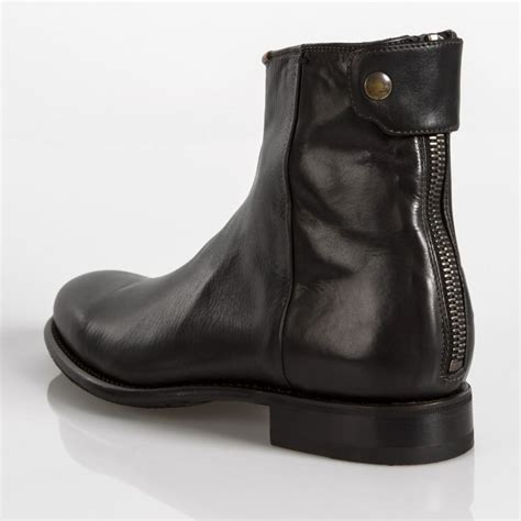 paul smith boots mens paul smith s dip dyed black leather claude boots with