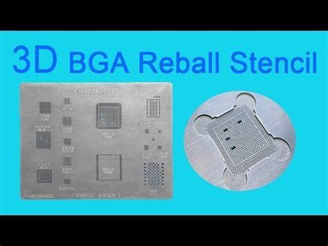3d Bga Cetakan Iphone A8 reball chip with 3d bga stencils for iphone