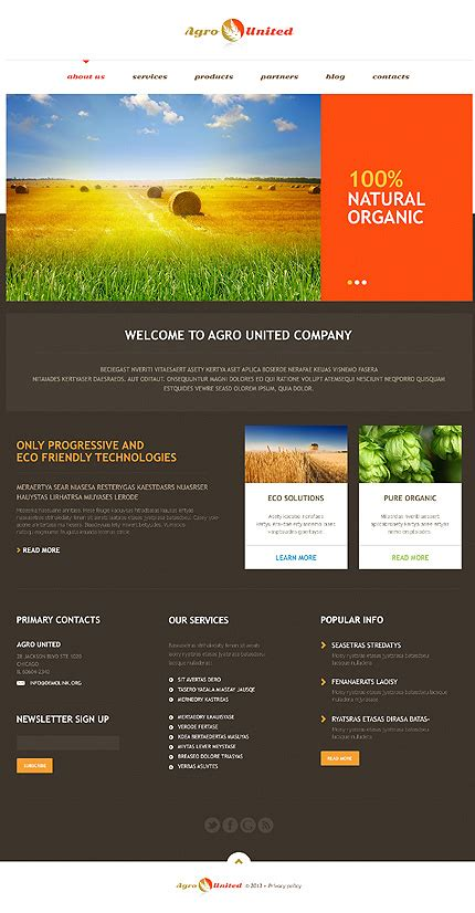 30 Agriculture Wordpress Themes To Boost Your Organic Farming Growth Wp Mayor Poetry Website Templates