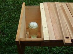 top bar hive feeder plans inverted jar feeder inside a hive beekeeping pinterest