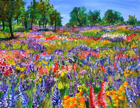 wildflower landscape by mary jo zorad