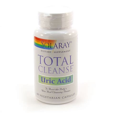 Total Detox Capsules by Total Cleanse Uric Acid By Solaray 60 Veg Capsules